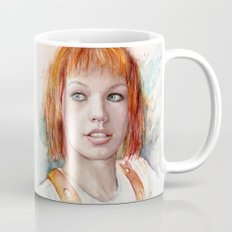 Leeloo Portrait Fifth Element Art Mug