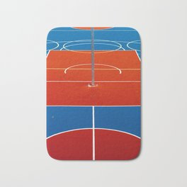 The Court in Red and Blue (Color) Bath Mat