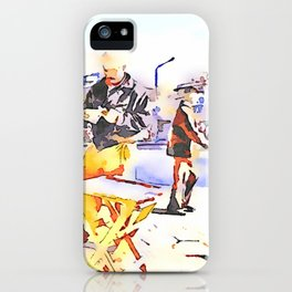 Street players in Aleppo iPhone Case