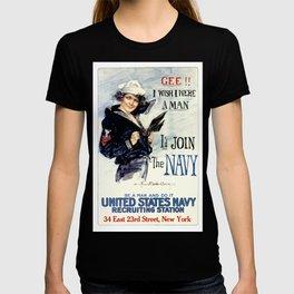Vintage U.S. Navy Recruitment Poster T-shirt