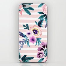 Victoria Blushing Stripe iPhone & iPod Skin