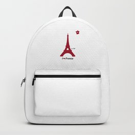 I love France - Tour Eiffel Backpack
