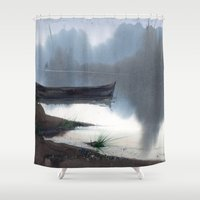 silence of the lambs Shower Curtains featuring Silence by Ivanushka Tzepesh