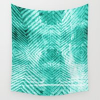 tie dye Wall Tapestries featuring Tie Dye  by Jenna Davis Designs
