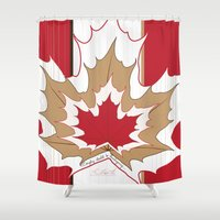 canada Shower Curtains featuring O' Canada by Azabella Rose Adamora