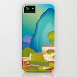 Machu Picchu, Peru - Skyline Illustration by Loose Petals iPhone Case
