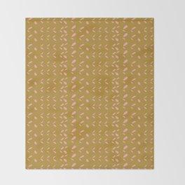 Abstract blush pink mustard yellow watercolor geometrical pattern Throw Blanket
