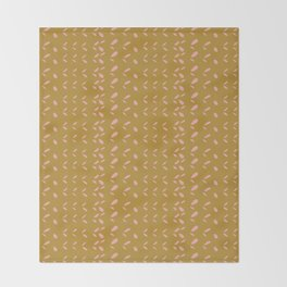 Abstract blush pink mustard yellow watercolor geometrical pattern Throw Blanket