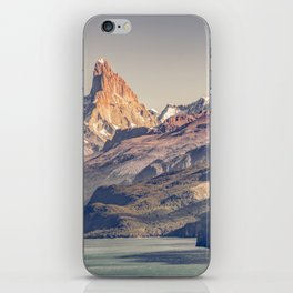 Fitz Roy and Poincenot Andes Mountains - Patagonia - Argentina iPhone Skin