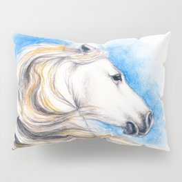 White Andalusian Pillow Sham
