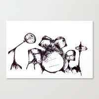 drums Canvas Prints featuring Drums by Jake Stanton