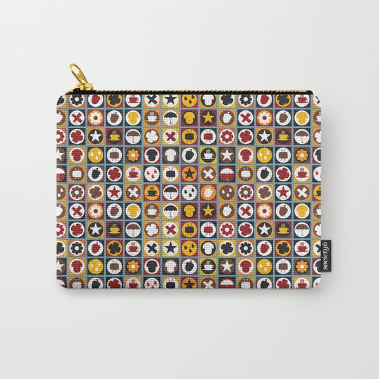 Retro autumn pattern No.321457 Carry-All Pouch