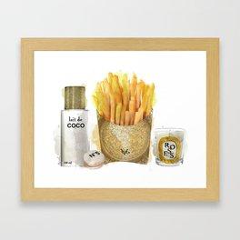 Fashion French Fries, Lait de Coco Framed Art Print