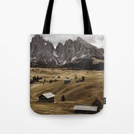 seiser alm landscape Tote Bag