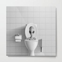 Aliens in the Toilet ! Metal Print