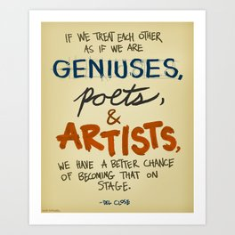 Geniuses, Poets, Artists Art Print