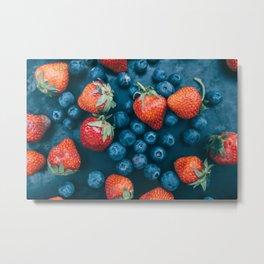Strawberries and blueberries Metal Print