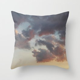 postpone it · sky Throw Pillow