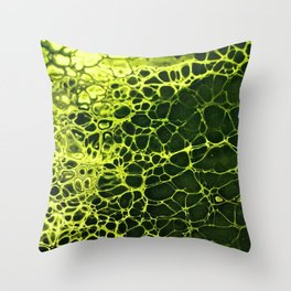Cells - Slime Green Throw Pillow