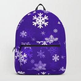Light Purple Snowflakes Backpack