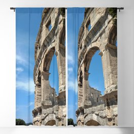 pula croatia ancient arena amphitheatre high Blackout Curtain