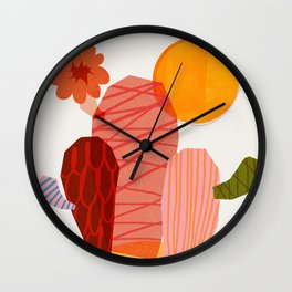 Abstraction_Cactus_&_Sun Wall Clock