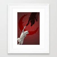 dark side of the moon Framed Art Prints featuring dark side of the moon by OFF-WHITE