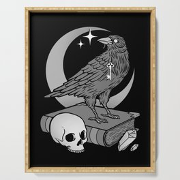 Occult Crow Serving Tray