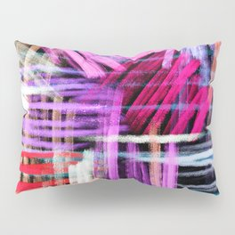 oil pastels abstract pattern Pillow Sham