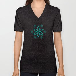 Evolution | Alien crop circle | Sacred geometry Unisex V-Neck