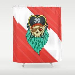 Pixel Pirate Shower Curtain