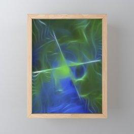 Green Frequency Framed Mini Art Print