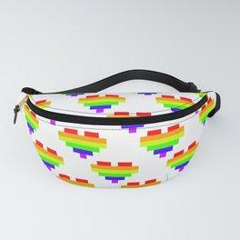 Pixel Pride - White Fanny Pack