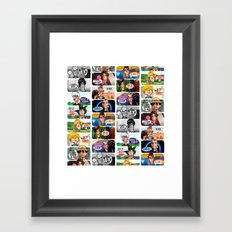 Faces of Who Framed Art Print