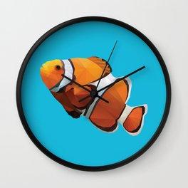 Clown Fish Polygon Art Wall Clock