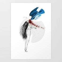 Geometrical murderer. Art Print