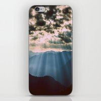 mountains iPhone & iPod Skins featuring mountainS Dark Sunset by 2sweet4words Designs