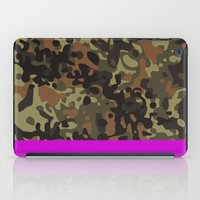 david fleck iPad Cases featuring Magenta Fleck Tarn Camo by Derek Boman