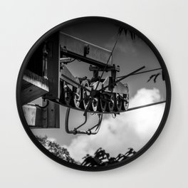 Gondola Pulleys Wall Clock