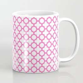 Hot Pink Quatrefoil Pattern Coffee Mug