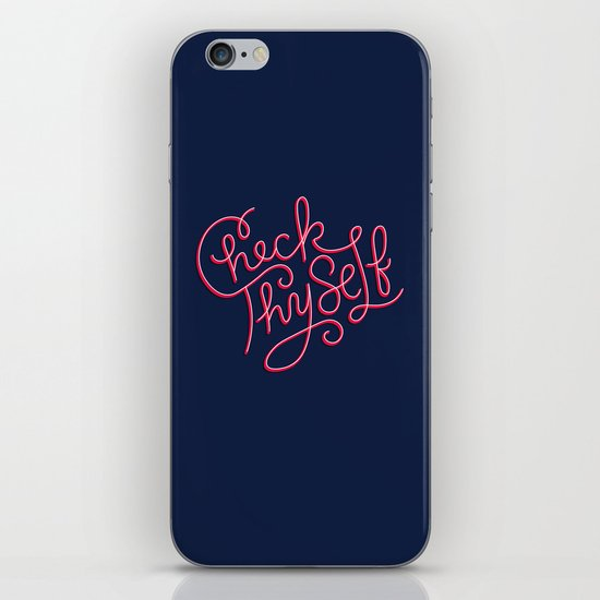 Check Thyself iPhone & iPod Skin