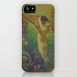 Undersea, The Mermaids Embrace by Frederic Helbing iPhone Case