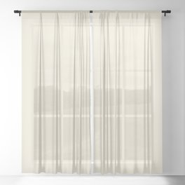 Sweet Corn F0EAD6 Sheer Curtain