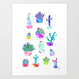 Garden Cacti Art Print