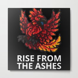 Rise from the ashes Metal Print