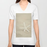 starfish V-neck T-shirts featuring Starfish  by Laura Ruth