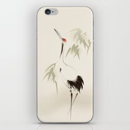 Oriental Red-Crowned Crane 001 iPhone Skin