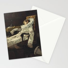 """Pierrot's Dream"" by Édouard John Menta Stationery Cards"