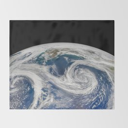 Springtime in the Gulf of Alaska Throw Blanket