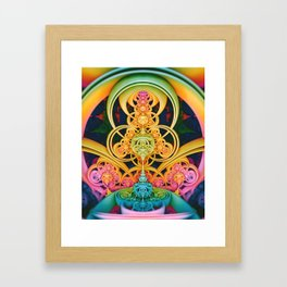 Time Shell III. Colorful Abstract Render Framed Art Print